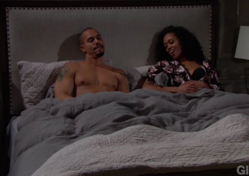 Bryton James and Mishael Morgan