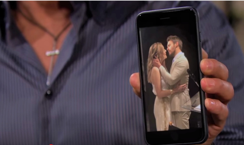Bold and the Beautiful Hope and Liam On Cell Phone Screen