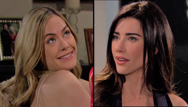 Bold and the Beautiful Steffy Forrester and Hope Logan (Jacqueline MacInnes Wood and Annika Noelle)
