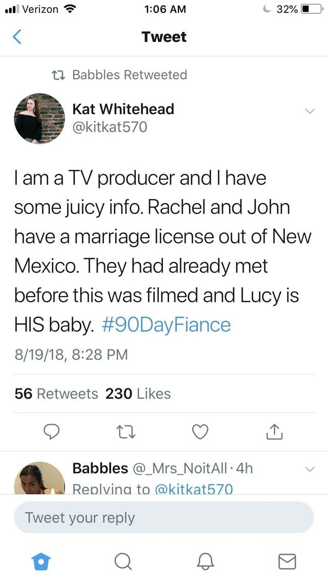 90 Day Fiance – Rachel Bear Fraud – Jon Walters Is Lucy's Bio-Dad on