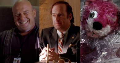 "Better Call Saul"" James ""Jimmy"" McGill - Saul Goodman (Bob Odenkirk) - Hank Schrader (Dean Norris) - Pink Teddy Bear - Breaking Bad"