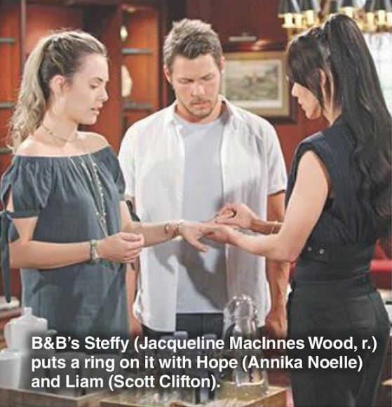 Bold and the Beautiful Steffy Puts a Ring on Hope for Liam