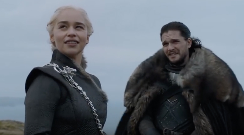 Game of Thrones: Emilia Clarke (Daenerys Targaryen) Kit Harrington (Jon Snow) - Binge