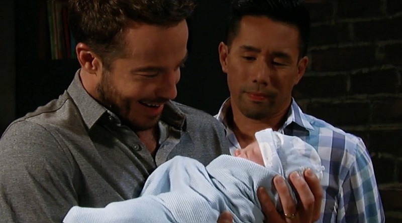 General Hospital: Brad Cooper (Parry Shen) and Lucas Jones (Ryan Carnes)