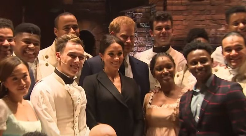 Meghan Markle - Prince Harry - Cast of Hamilton
