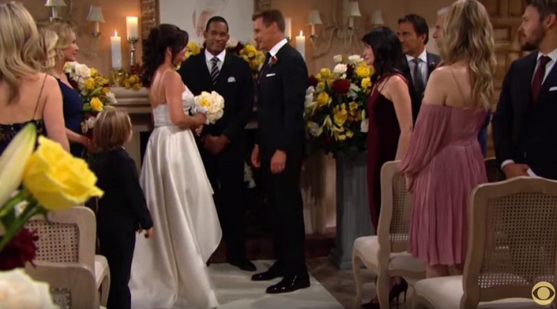 Bold and Beautiful Video Weekly Spoiler - Katie Logan (Heather Tom) and Thorne Forrester (Ingo Rademacher) Wedding Picture