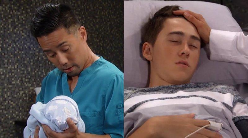 General Hospital Spoilers: Oscar Nero (Garren Stitt) - Baby Wiley (Jonah) - Brad Cooper (Parry Shen)
