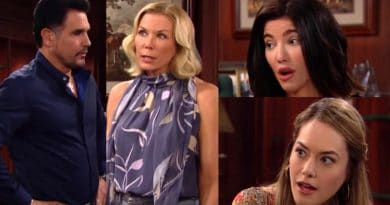 Bold and the Beautiful Spoilers: Bill Spencer (Don Diamont) - Brooke Logan (Katherine Kelly Lang) - Steffy Forrester (Jacqueline MacInnes Wood) - Hope Logan (Annika Noelle)