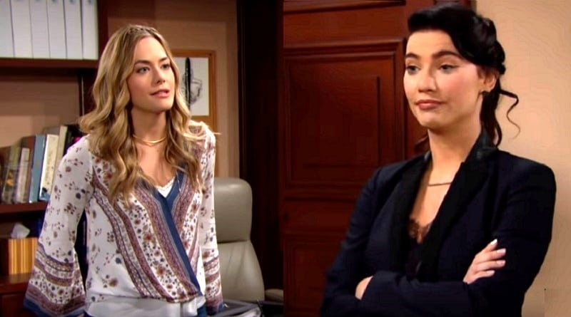Bold and the Beautiful Spoilers: Hope Logan (Annika Noelle)- Steffy Forrester (Jacqueline MacInnes Wood)