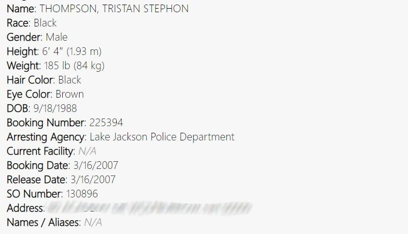 Married at First Sight - Tristan Thompson arrest