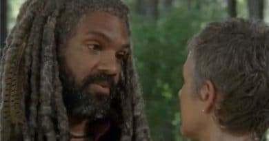 The Walking Dead: King Ezekiel (Khary Payton) Carol Peletier (Melissa McBride)