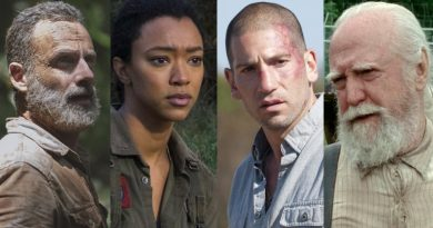 The Walking Dead Spoilers: Rick Grimes (Andrew Lincoln) - Sasha Williams (Sonequa Martin-Green) - Shane Walsh (Jon Bernthal) - Hershel Greene (Scott Wilson)