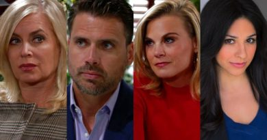 Young and the Restless Spoilers: Ashley Abbott (Eileen Davidson) - Nick Newman (Joshua Morrow) - Phyllis Abbott (Gina Tognoni) Mia Rosales - Noemi Gonzalez