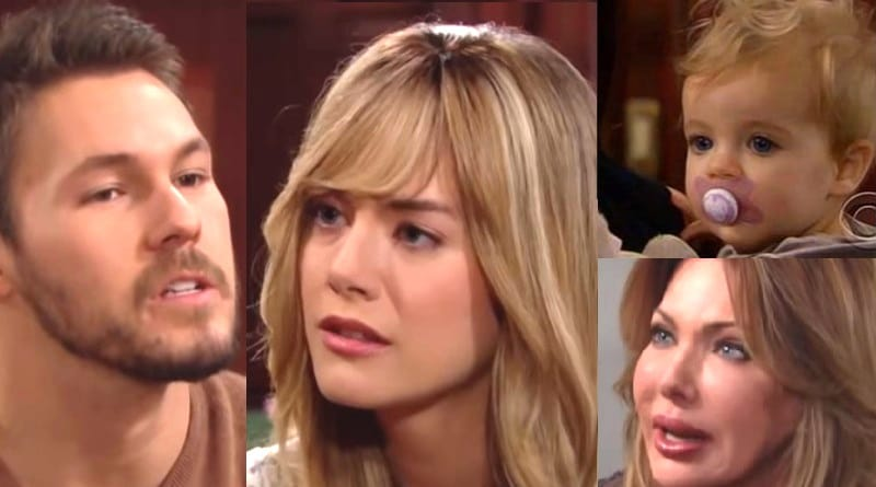 Bold and the Beautiful Spoilers - Liam Spencer (Scott Clifton) - Hope Logan (Annika Noelle) - Kelly Spencer (Gabriel Sporman) - Taylor Hayes (Hunter Tylo)