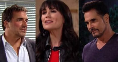 Bold and the Beautiful Spoilers: Ridge Forrester (Thorsten Kaye) - Bill Spencer (Don Diamont) - Quinn Fuller (Rena Sofer)
