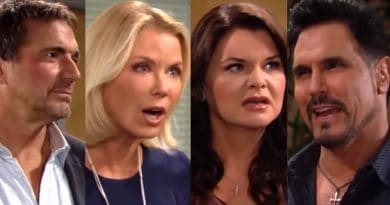 Bold and the Beautiful Spoilers: Ridge Forrester (Thorsten Kaye) - Brooke Logan (Katherine Kelly Lang) - Katie Logan (Heather Tom) - Bill Spencer (Don Diamont)