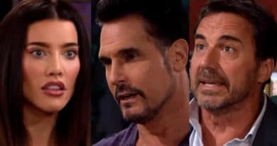 Bold and the Beautiful Spoilers: Steffy Forrester (Jacqueline MacInnes Wood) - Bill Spencer (Don Diamont) - Ridge Forrester (Thorsten Kaye)