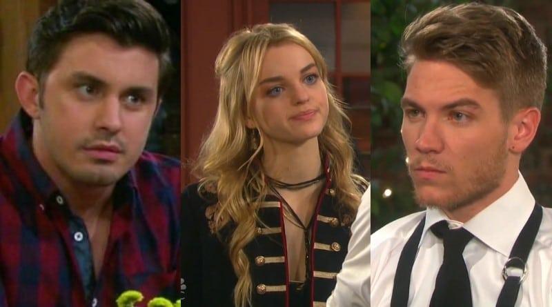 Days of Our Lives Spoilers: Wyatt (Scott Shilstone) - Claire Brady (Olivia Rose Keegan) - Tripp Dalton (Lucas Adams)