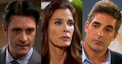 Days of Our Lives Spoilers: Gilles Marini (Ted Laurent)-Kristian Alfonso (Hope Brady)-Galen Gering (Rafe Hernandez)