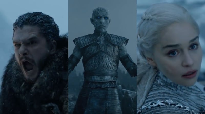 Game of Thrones Jon Snow Kit Harrington - Night King Richard Brake - Daenerys Targaryen Emilia Clarke