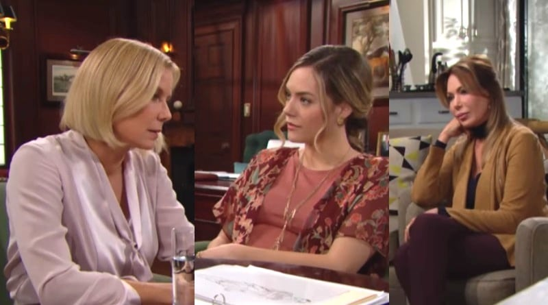 Bold and the Beautiful Spoilers: Brooke Logan (Katherine Kelly Lang) - Hope Logan (Annika Noelle) - Taylor Hayes (Hunter Tylo)