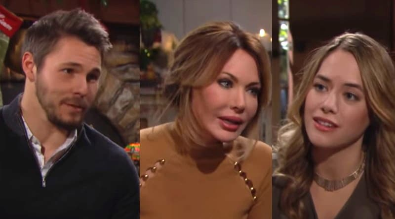 Bold and the Beautiful Spoilers: Liam Spencer (Scott Clifton) -Taylor Hayes (Hunter Tylo) - Hope Logan (Annika Noelle)