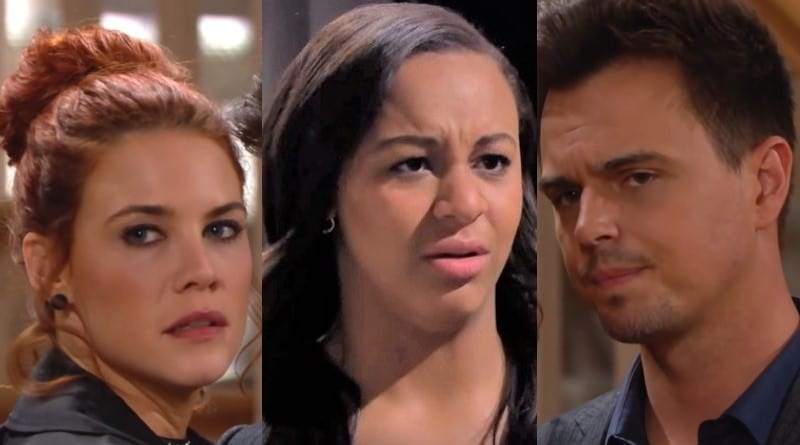 Bold and the Beautiful Spoilers: Sally Spectra (Courtney Hope) - Emma Barber (Nia Sioux) - Wyatt Spencer (Darin Brooks)