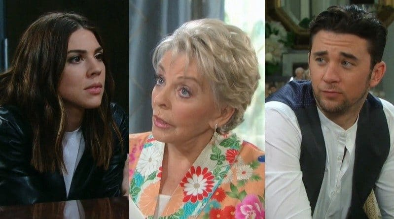 Days of Our Lives Spoilers: Abigail Deveraux (Kate Mansi) - Julie Olson Williams (Susan Seaforth Hayes) - Chad DiMera (Billy Flynn)