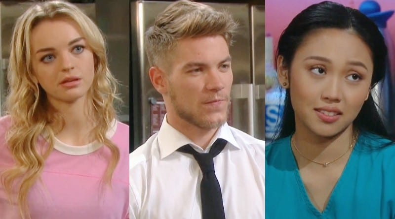 Days of Our Lives Spoilers: Claire Brady (Olivia Rose Keegan) - Tripp Dalton (Lucas Adams) - Haley Chen (Thia Megia)