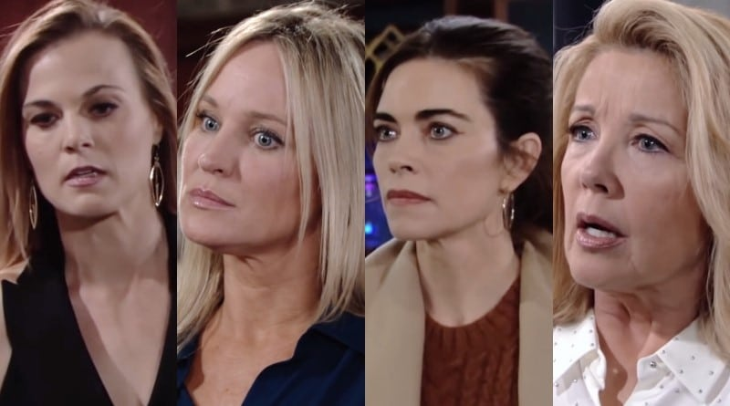 Young and the Restless Spoilers: Phyllis Abbott (Gina Tognoni) - Sharon Newman (Sharon Case) - Victoria Newman (Amelia Heinle) - Nikki Newman (Melody Thomas Scott)
