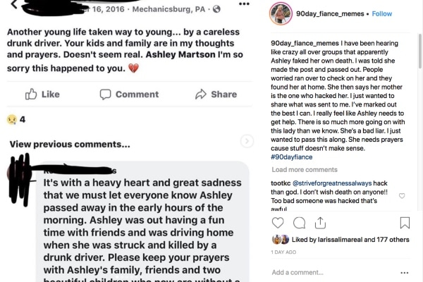 90 Day Fiance: Ashley Martson Instagram