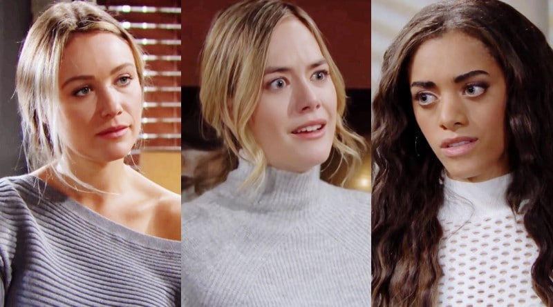 Bold and the Beautiful Spoilers: Florence Fulton (Katrina Bowden) - Hope Logan (Annika Noelle) - Zoe Buckingham (Kiara Barnes)