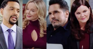 Bold and the Beautiful Spoilers: Justin Barber (Aaron D. Spears) - Donna Logan (Jennifer Gareis) - Bill Spencer (Don Diamont) - Katie Logan (Heather Tom)