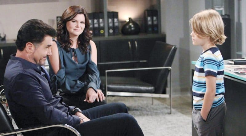 Bold and the Beautiful Spoilers: Katie Logan (Heather Tom) - Bill Spencer (Don Diamont) - Will Spencer (Finnegan George)