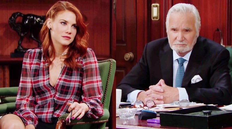Bold and the Beautiful Spoilers: Sally Spectra (Courtney Hope) - Eric Forrester (John McCook)