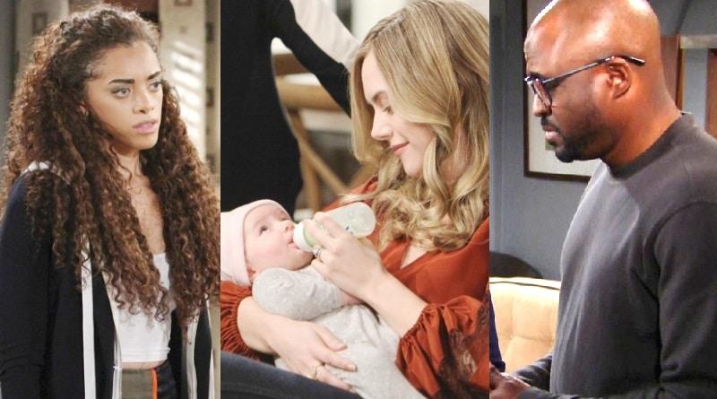 Bold and the Beautiful Spoilers: Zoe Buckingham (Kiara Barnes) - Hope Logan (Annika Noelle) - Reese Buckingham (Wayne Brady)