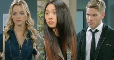 Days of Our Lives Spoilers: Claire Brady (Olivia Rose Keegan) - Haley Chen (Thia Megia) - Tripp Dalton (Lucas Adams)
