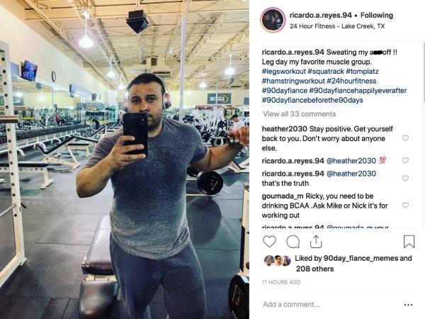 90 Day Fiance Before the 90 Days: Ricky Reyes Instagram