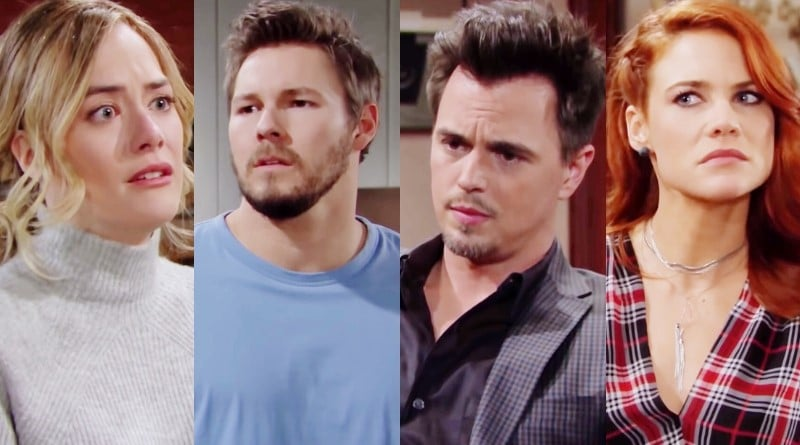 Bold and the Beautiful Spoilers: Hope Logan (Annika Noelle) - Liam Spencer (Scott Clifton) - Wyatt Spencer (Darin Brooks) - Sally Spectra (Courtney Hope)