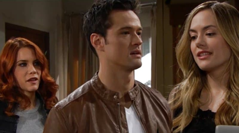 Bold and the Beautiful Spoilers: Hope Logan (Annika Noelle) - Thomas Forrester (Matthew Atkinson) - Sally Spectra (Courtney Hope)