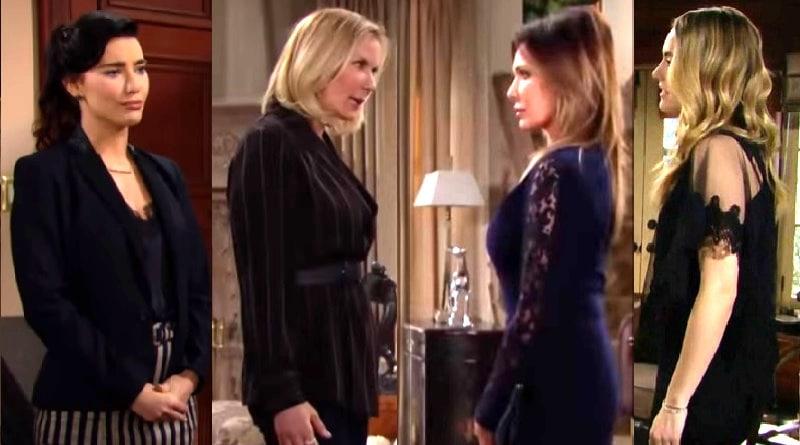 Bold and the Beautiful Spoilers: Steffy Forrester (Jacqueline MacInnes Wood) - Brooke Logan (Katherine Kelly Lang) - Taylor Hayes (Hunter Tylo) - Hope Logan (Annika Noelle)