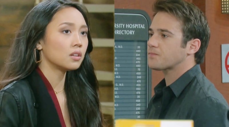 Days of Our Lives Spoilers: Haley Chen (Thia Megia) - JJ Deveraux (Casey Moss)