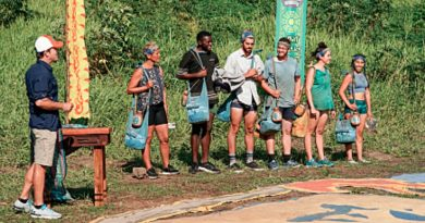 Survivor Spoilers: Jeff Probst - Reem Daly - Keith Sowell - Chris Underwood - Rick Devens - Aubrey Bracco - Wendy Diaz