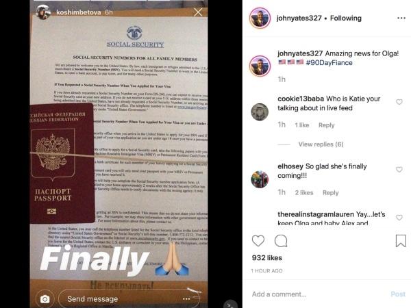 90 Day Fiance: Olga Koshimbetova Instagram