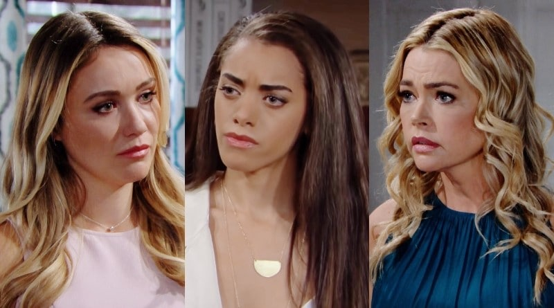 Bold and the Beautiful Spoilers: Flo Fulton (Katrina Bowden) - Zoe Buckingham (Kiara Barnes) - Shauna Fulton (Denise Richards)