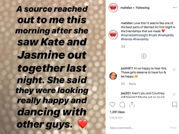 Married at First Sight: Kate Sisk Instagram