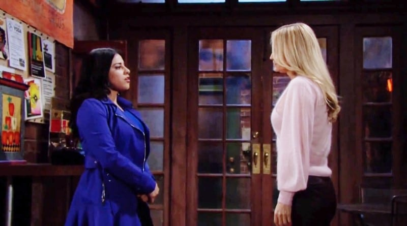 Young and the Restless Spoilers: Mia Rosales (Noemi Gonzalez) - Sharon Newman (Sharon Case)