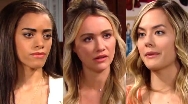 Bold and the Beautiful Spoilers: Zoe Buckingham (Kiara Banes) - Flo Fulton (Katrina Bowden) - Hope Logan (Annika Noelle)
