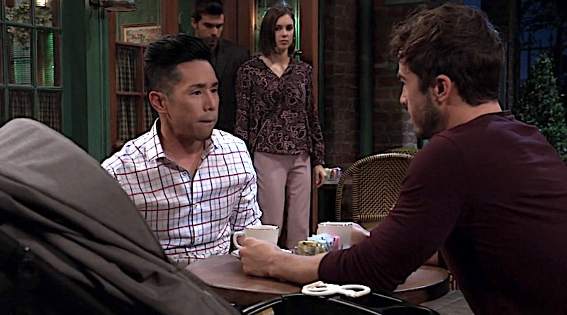 General Hospital Spoilers: Lucas Jones (Ryan Carnes) - Brad Cooper (Parry Shen) - Willow Tait (Katelyn MacMullen) - Harrison Chase (Josh Swickard)