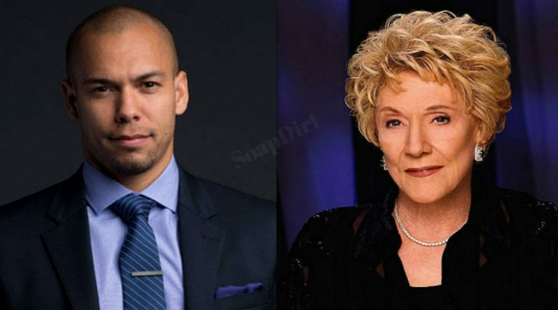 Young and the Restless: Devon Hamilton (Bryton James) - Katherine Chancellor (Jeanne Cooper)